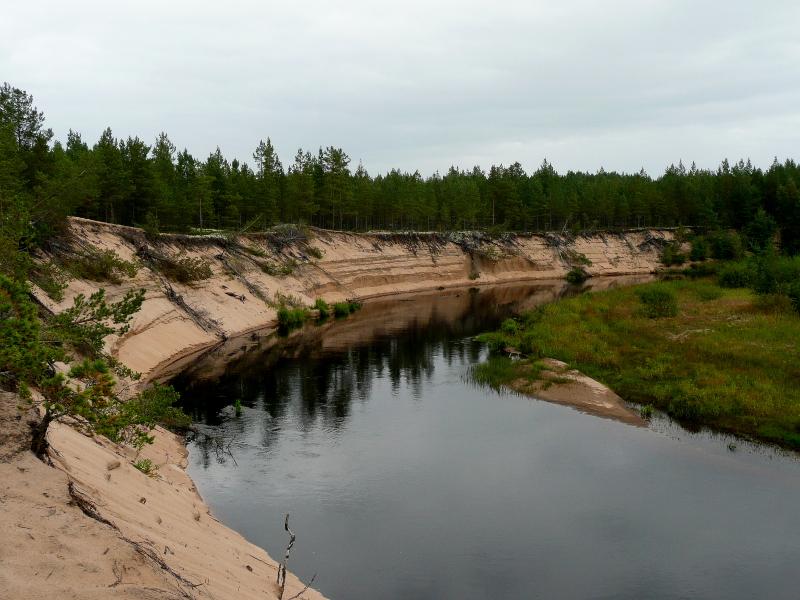 Joki muokkaa maisemia